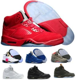 Wholesale Gold 5s - Hot 5 Basketball Shoes Mens Women 5s V Red Suede Olympic Grape Cement Stars Take Flight Premium Pinnacle Trophy Room Athletic Shoe Sneakers