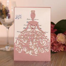 Tarjetas de visita de la invitación de la boda online-Tarjeta de Invitación de Ceremonia de Boda Carta de Invitaciones de Hollow Out Business Tarjeta de Fiesta de Cumpleaños de Chica Hermosa Tarjetas de felicitación para adultos 1 4yh gg