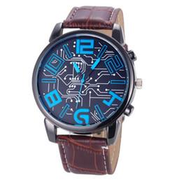 спортивные часы оптом Скидка NEW Fabulous  Men's Leather Strap Analog Quartz Sports Wrist Watch Watches kol saati wholesale Dropship