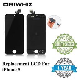 Iphone 5g de la pantalla táctil del reemplazo online-Nueva llegada Grand AAA Pantalla táctil digitalizadora con reemplazo de ensamblaje de marcos para iPhone 5 5G Lcd Real Photo Envío gratis de DHL