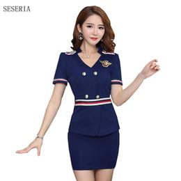 2019 uniformes de aeromoça SÉSIA Uniforme Tentação Sexy Aeromoça Uniforme  Air Hostess Traje acessível uniformes de b14b5d0eda5