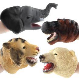 Os presentes os mais frescos do bebê on-line-Legal Animais Selvagens Vida Marinha Golfinho Elefante Brinquedo Fantoches de Mão Dos Desenhos Animados Leão Boneca de Mão Boneca Bebê Crianças Brinquedos de Presente de Aniversário