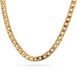 2019 популярные мужские цепи Евро-США популярные кубинские цепи 24-дюймовый длинное ожерелье мужчины хип-хоп цепи из нержавеющей стали металл 18K позолоченные мужские ожерелье цепь скидка популярные мужские цепи