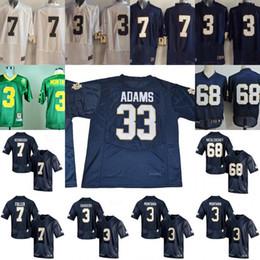 Wholesale green joe - Notre Dame Fighting Irish #33 Josh Adams 7 Brandon Wimbush 3 Joe Montana CJ Sanders Stitched NCAA College Football white navy blue Jerseys
