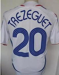 2006 Retro Soccer Jersey ZIDANE Henry Trezeguet Vieira Ribery 06 France  Vintage Football Shirts Maillot efad525f0