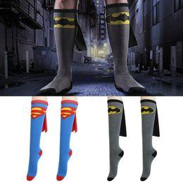 Hot 4 estilos batman superman cosplay Meias Casuais adultos e crianças estilo cartoon personalidade engraçado Casual Esporte Meias De Futebol de