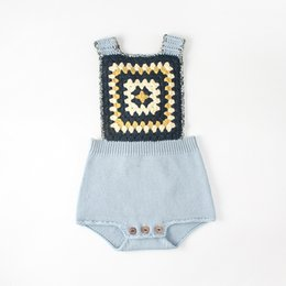 3a38164f66b baby girl christmas sweater Promo Codes - Everweekend Baby Girls Boys  Vintage Knitted Sweater Rompers Candy