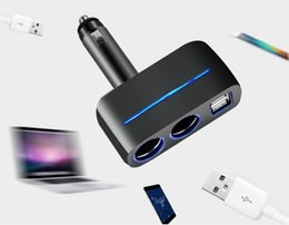 caricabatteria android zte Sconti 3.1A Dual Output 12/24 New USB Car Charger Socket 2 Way Auto Car Accendisigari Car Charger Socket Splitter 2 Caricatore USB Adattatore di alimentazione