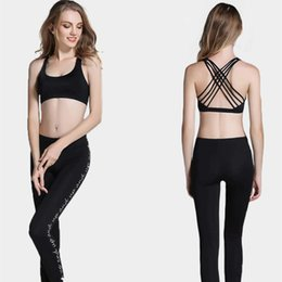 8c08ca121c927 Hot Back Sexy Yoga Bras Women Padded Sports Shake proof Running Gym Workout  Bra Breathable Wire Free Push Up Fitness Sport Top Cross Strap