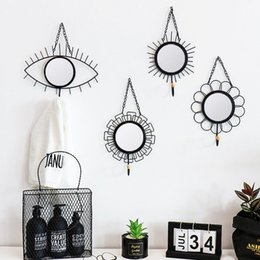 hanger for sundry clothes Promo Codes - Nordic Style Geometric Iron Hanging Hook Wall Hanger Sundries Holder Organizer Home Decor Hook For Key Hat Umbrella Clothes