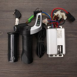 Wholesale Brush Dc Motor - DC 48V 1000W 30A Motor Brushed Controller Speed Control +Throttle Twist Grips
