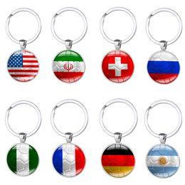 2020 anel da copa do mundo 12 Pcs Chaveiro Chave Anéis para 2018 Rússia Copa do Mundo de Futebol com Um Padrão de Bandeiras Nacionais Pingente Em Charme para Fãs de Futebol Presente Da Lembrança desconto anel da copa do mundo