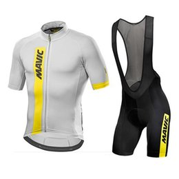 Wholesale gold lycra suit - Mavic 2018 Cycling Jersey Summer Team Short Sleeves bib shorts Set Bike Clothing Ropa Ciclismo Cycling Clothing Sports Suit M1503