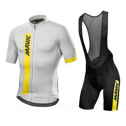 Wholesale Peach Suits - Mavic 2018 Cycling Jersey Summer Team Short Sleeves bib shorts Set Bike Clothing Ropa Ciclismo Cycling Clothing Sports Suit M1503