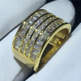 canali impostati Sconti Anello di lusso impostazione impostazione 5A Cz pietra giallo oro Filled Fidanzamento anello di fidanzamento per le donne gioielli da sposa