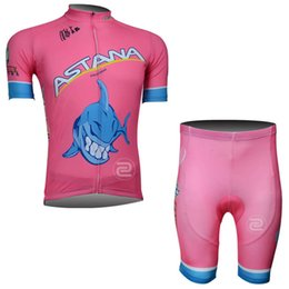 Wholesale Astana Cycling Clothes - ASTANA team Cycling Clothing For Men ShoASTANA team Cycling Short Sleeves cycling set jersey (bib) shorts sets Multiple choices c7012