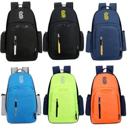 Wholesale Corduroy Backpacks - New Arrival Irving backpack basketball Sport outdoors packs Fashion Travel bags White Green Orange Black school bag Free shipping
