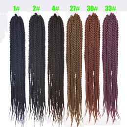 2019 empacar trenzas retorcidas Silky Strands 24 pulgadas cúbicos Twist Crochet Hair 12Roots / Pack Ombre Crochet Twist extensiones de cabello trenzado de pelo rebajas empacar trenzas retorcidas