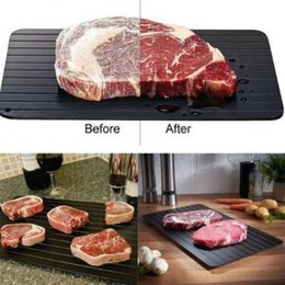 Wholesale Fast Safe - Quick Thawing Food Fast Safest Frozen Meat Board Tool Kitchen Defrosting Tray Without Electricity Microwave CCA9022 24pcs