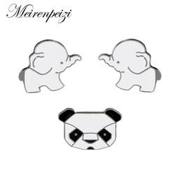 spille smaltate Sconti 3 pezzi / set Moda Cartoon Animali Spille per smalti Spille Set Carino Panda Elephant Pins per abiti Borse matrimonio Risvolto