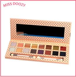 MISS DOOZY 16 Farbe Make-Up Lidschatten Pallete bar Nude Box Glitter Balm Palette Stirn Kosmetik Natürliche Matte Geschenk von Fabrikanten