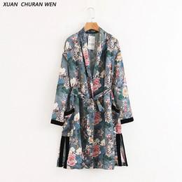 Langer kimono mantel