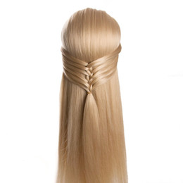 Wholesale Training Heads For Hairdressing - 80cm hair synthetic female mannequin head hairstyles Hairdressing Styling Training Headhead for hairdressers dolls