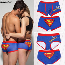 Wholesale Man Women Boxer - Men Women Underwear Briefs Couple Cartoon Print Patchwork Boxer Shorts Ropa interior de mujer N3020
