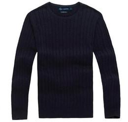 Nuevo envío gratis Nueva alta calidad polo de los hombres suéter de la aguja torcida de algodón de cuello redondo suéter jersey suéter tamaño masculino S-XXL desde fabricantes