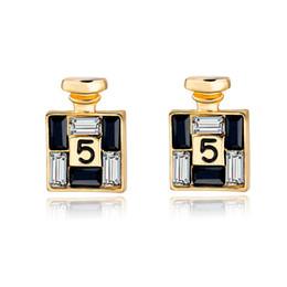2019 orecchini in oro 18k per bambino Nuovo arrivo moda bijoux oro orecchini canale per le donne di cristallo orecchini ornamenti personalità femminile