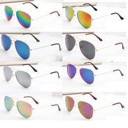 Wholesale Gold Aviators - New cheap sunglasses colors Women Aviator Sunglasses Gold frame Glasses Men UV400 Shades Male Pilot Sunglass Female Eyewear