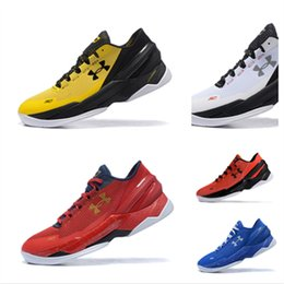 Wholesale Final Gold - 2018 new Under Armour Curry 2 Two BHM Sport Men Basketball Shoes Final Curry On Foot Outdoor Athletic Cushion Sneakers