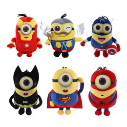 Wholesale Ce Phones - Cosplay The Avengers Super Hero Spiderman Superman Batman Captain America Ironman Thor phone sucks Plush toys Doll Stuffed Toy
