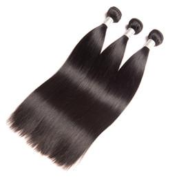 Muestras de cabello tejido virgen online-Indian Virgin Hair One Bundles Recta una muestra Color natural El cabello humano teje tramas de cabello recto 95-100g / pieza