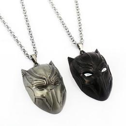 Wholesale wholesale fashion spider jewelry - Civil War Necklace Superhero Pendant Spider Man Ant Man Black Panther Necklaces Fashion Men Women Gift Movie Jewelry Accessories