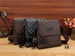 2018 New arrival men designer bags Lous Vedon luxury brand messenger bag crossbody bags famous fashion Pu leather briefcase