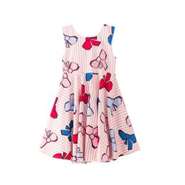 Секундная одежда онлайн-girls summer floral dress princess 2018 new fashion sleeveless A-line party dress kids summer clothes 7 seconds fish