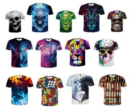 Wholesale Nwt Shirt - NWT Fashion 3D T-shirt novelty casual streetwear men&women tops Short Sleeve Creative printed Tees