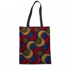 77cd7abe9 bolsas africanas Desconto Saco de Compras Mulheres Bolsas Eco-friendly Sacos  De Lona Portátil Shopper