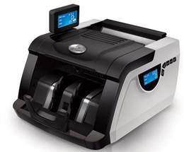 Máquinas de contar online-Moneda de alta calidad Dinero en efectivo Contador de billetes Contador LCD Macine Money Counting Machine Equipo financiero blanco LLFA