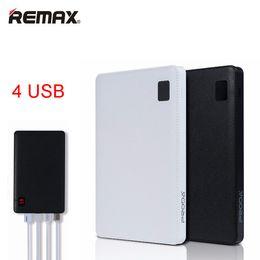 Wholesale notebook power bank - Remax-Proda Notebook Mobile power bank 30000mAh 4 USB External Battery Charger universal external battery power Bank 30000 mAh
