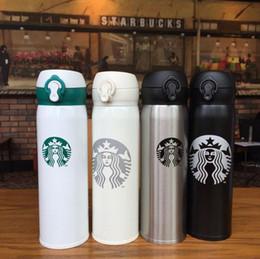 Wholesale Flask Coffee - Stainless Steel Vacuum Cups 500ML Coffee Water Bottle Thermal Bottles Vacuum Flasks Travel Garrafas Bounce Bottle 6 Styles OOA4623