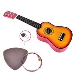Wholesale Nylon Strung Guitar - Colorful Mini Guitar Musical Instrument For Children Gift 6 Strings Ukulele 21