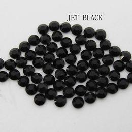 pietra jet nera Sconti JET Black Large Package Cristallo DMC tagliato a macchina Hotfix con strass Hot Fix Iron On Strass Sewing Stone