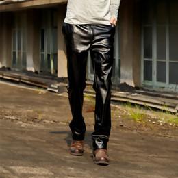 Homme Promotion Pantalon Faux En Vente Cuir BxTxwqP8A