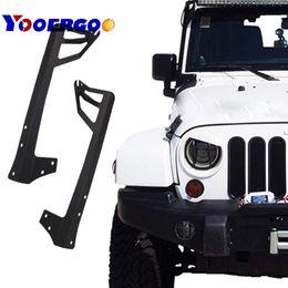 2019 cable espiral toyota corolla 51 pulgadas 52 pulgadas LED Light Bar parabrisas Soporte de montaje de montaje en acero para Jeep Wrangler JK 2007-2015 Car styling