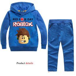 cappotto sportivo dei ragazzi 12 Sconti ROBLOX Baby Boy sport felpe con cappuccio manica lunga + pantaloni 2 pezzi vestito neonate ragazzi Roblox Set per ragazzi bambini Set di abbigliamento 3-10 Y1892707