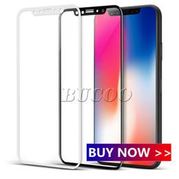 Protector de pantalla de fibra de carbono al por mayor online-Protector de pantalla de vidrio templado de borde curvado 3D de fibra de carbono brillante al por mayor de fábrica para iPhone 8 7 6 6S Plus HD vidrio templado transparente