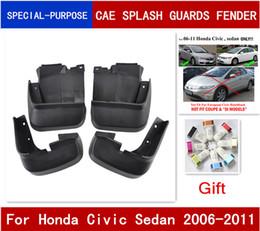 autoadesivi dell'automobile del gattino Sconti 4pcs / set Car paraspruzzi Paraspruzzi Paraspruzzi Parafanghi Fender per Honda Civic Sedan 2006 2007 2008 2009 2010 2011