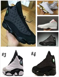 Wholesale Hologram Bands - 2018 high quality shoes 13 XIII man Basketball Shoes Bred Navy Game hologram grey toe Flint Grey Athletics Sport Sneaker Boots